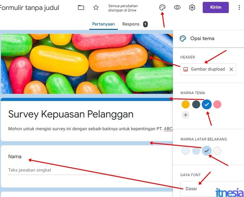 Merubah Desain Kuesioner Online Google Form