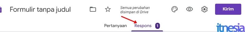 Respon Jawaban Kuesioner Online Google Form