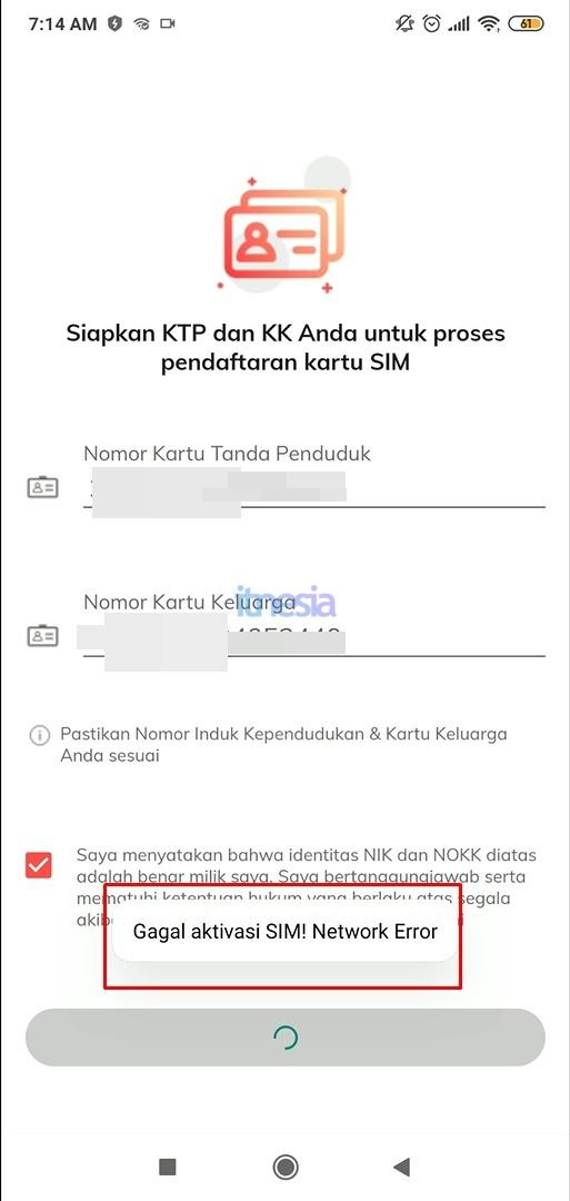 Telkomsel Orbit Gagal Aktivasi SIM! Network Error