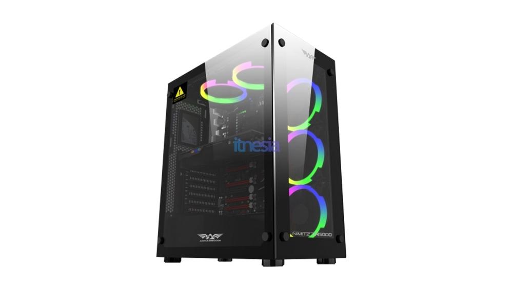 Rakit PC Gaming 15 Jutaan 2020 AMD - Casing ARMAGGEDDON NIMITZ TR5000