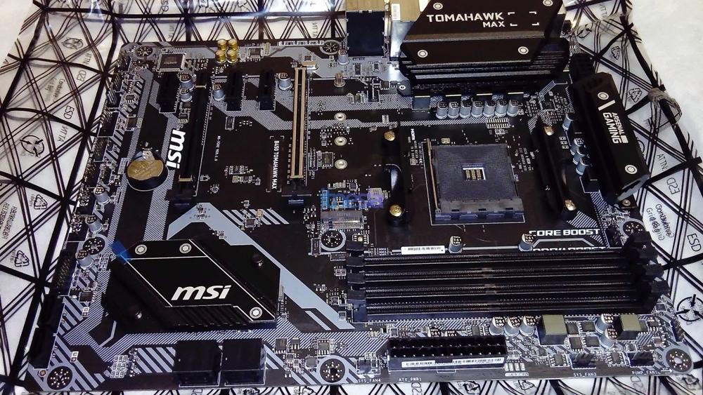 Rakit PC Gaming 15 Jutaan 2020 AMD - Motherboard MSI B450 TOMAHAWK MAX ATX AM4