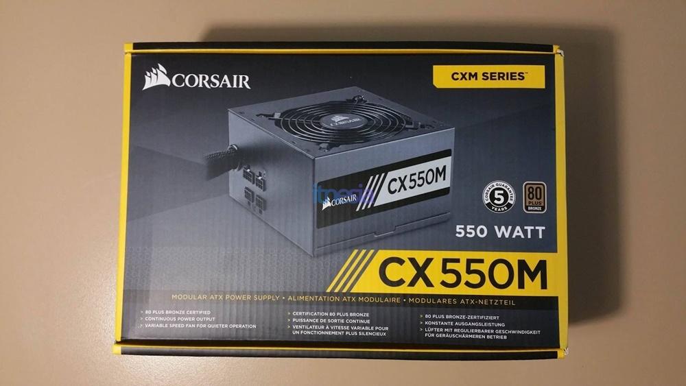 Rakit PC Gaming 16 Jutaan AMD 2020 - Power Supply Corsair CX Series - CX550M (CP-9020102-EU) - 550 Watt 80+ Bronze