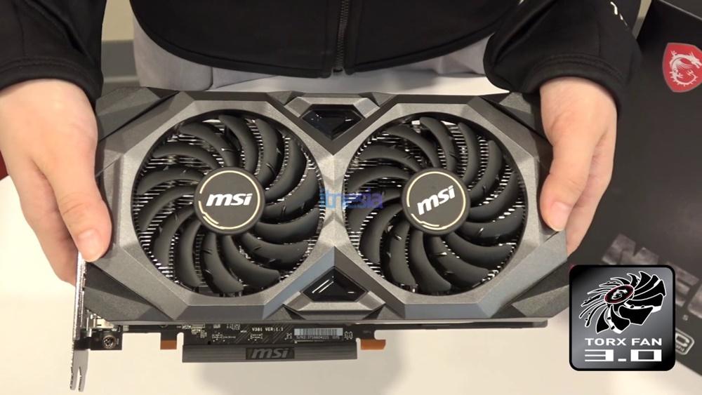 Rakit PC Gaming 16 Jutaan AMD 2020 - VGA MSI Radeon RX 5700 8 GB MECH OC Video Card