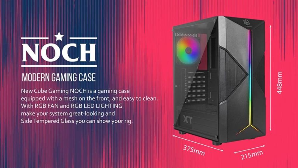 Rakit PC Gaming 16 Jutaan AMD - Casing CUBE GAMING NOCH - ATX