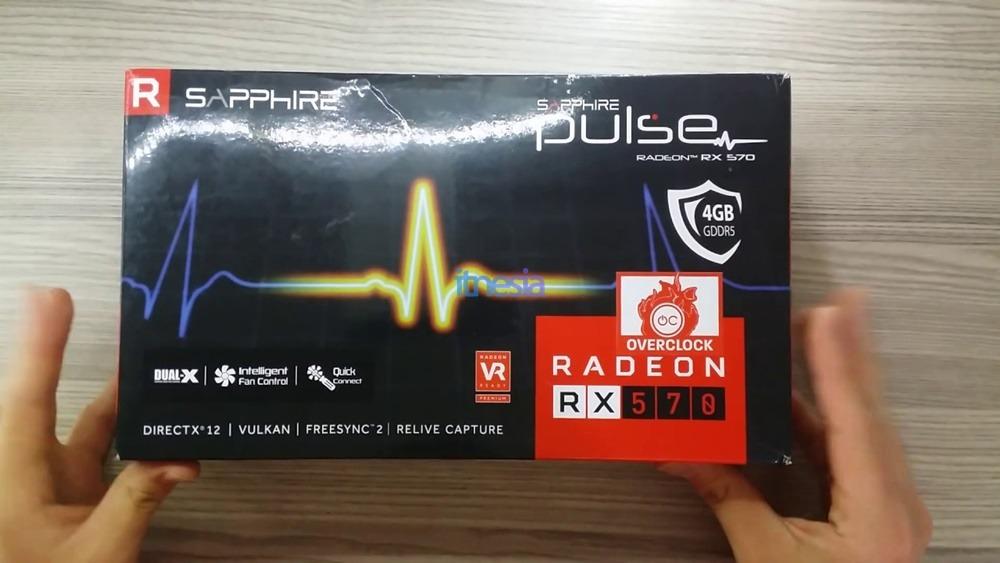 Rakit PC Gaming 6 Jutaan Intel - VGA Sapphire Pulse Radeon RX 570 Dual 4GB - RX 570 Dual 4 GB DDR5