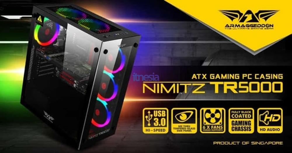 Rakit PC Gaming Intel 12 Jutaan 2020 - Casing ARMAGGEDDON NIMITZ TR5000