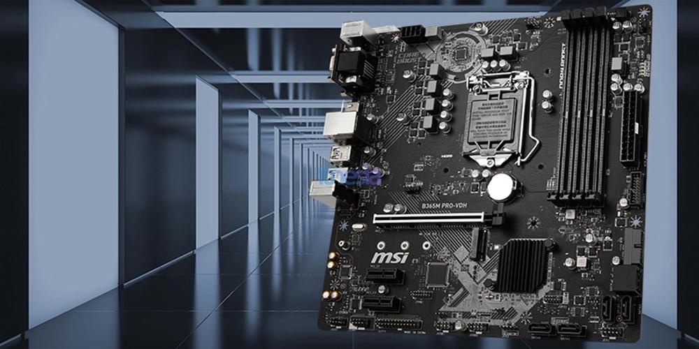 Rakit PC Gaming Intel 12 Jutaan 2020 - Motherboard MSI B365M PRO-VDH Micro ATX LGA1151