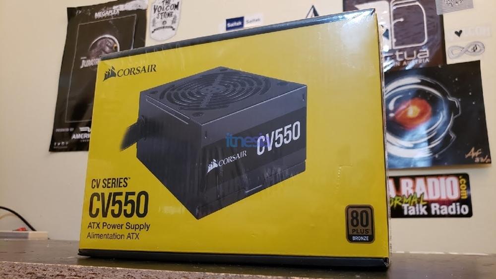 Rakit PC Gaming Intel 12 Jutaan 2020 - Power Supply Corsair CV550 550 Watt 80 Plus Bronze Certified
