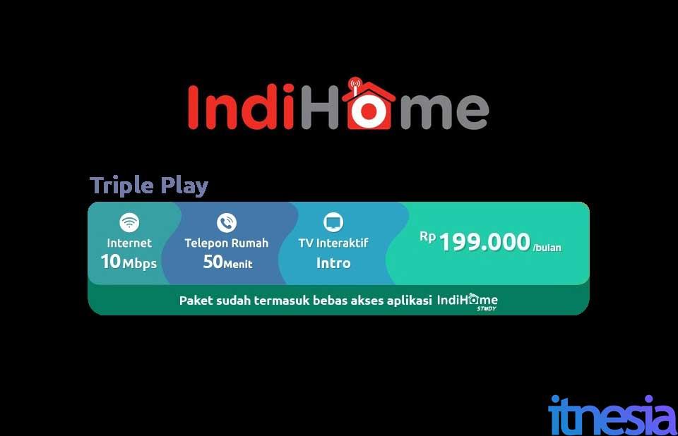 Indihome Triple Play 10 Mbps Promo WiFi Murah Dibawah 200 Ribu 2021