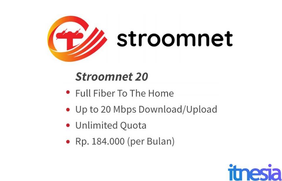 Stroomnet 20 Mbps WiFi Murah Dibawah 200 Ribu 2021