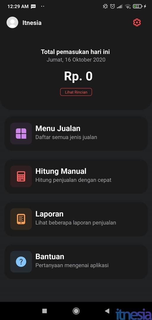 Halaman Utama Bonum POS Aplikasi Buku Kas Otomatis