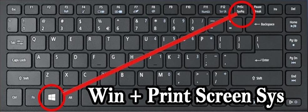 Letak Tombol Windows & Print Screen
