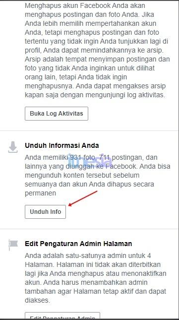 Backup Foto Dan Data Facebook Lainnya