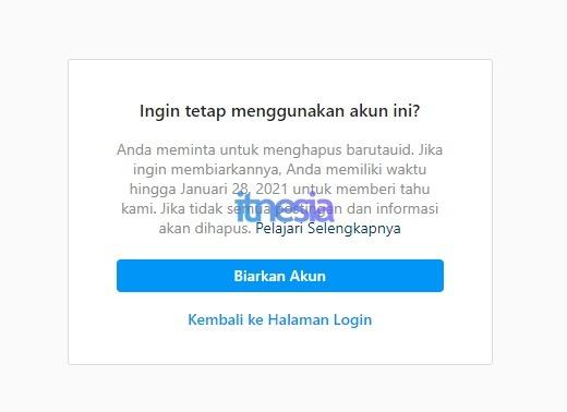 Cara Mengembalikan Akun Instagram Yang Sudah Dihapus 2