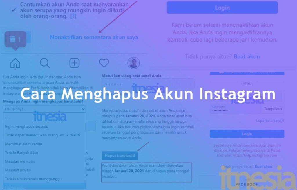 Cara Menghapus Akun Instagram Dengan Benar 2020
