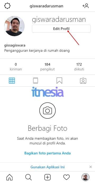 Cara Menghapus Akun Instagram Sementara - Edit Profil Instagram