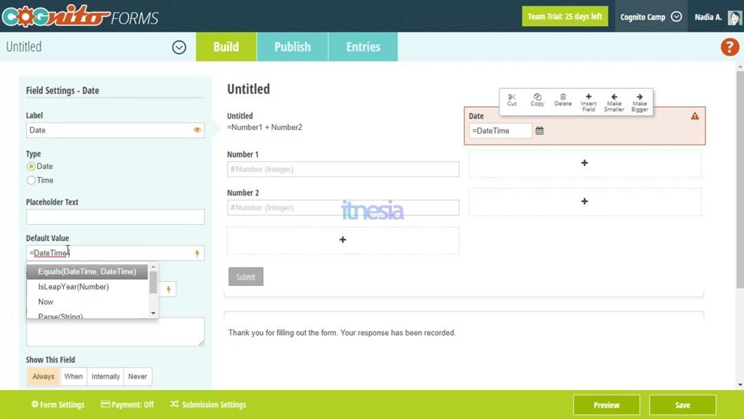 Cognito Form - Layanan Kuesioner Online Gratis Selain Google Form