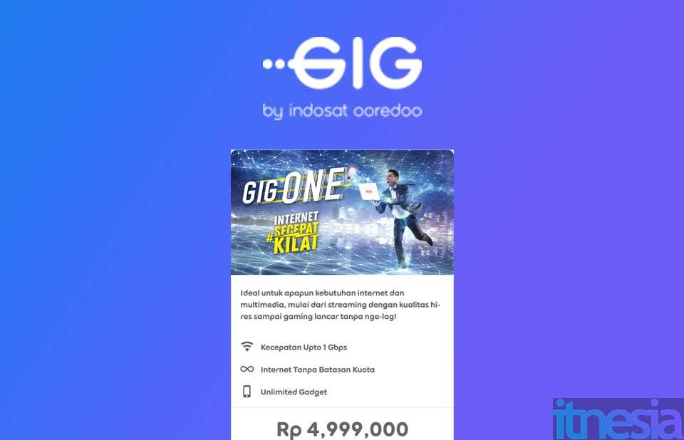 Paket WiFi tercepat Di Indonesia dari Indosat GiG