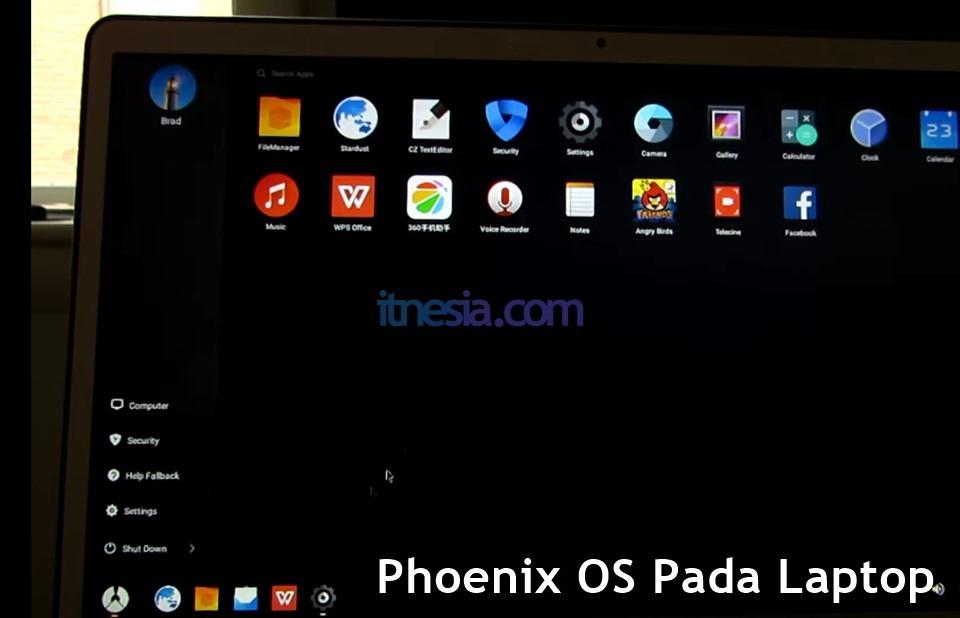 Phoenix OS Pada Laptop