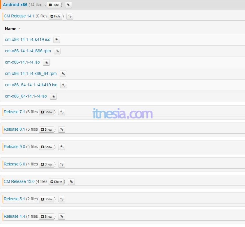 Pilihan Versi Android X86 Untuk Di Install Pada PC