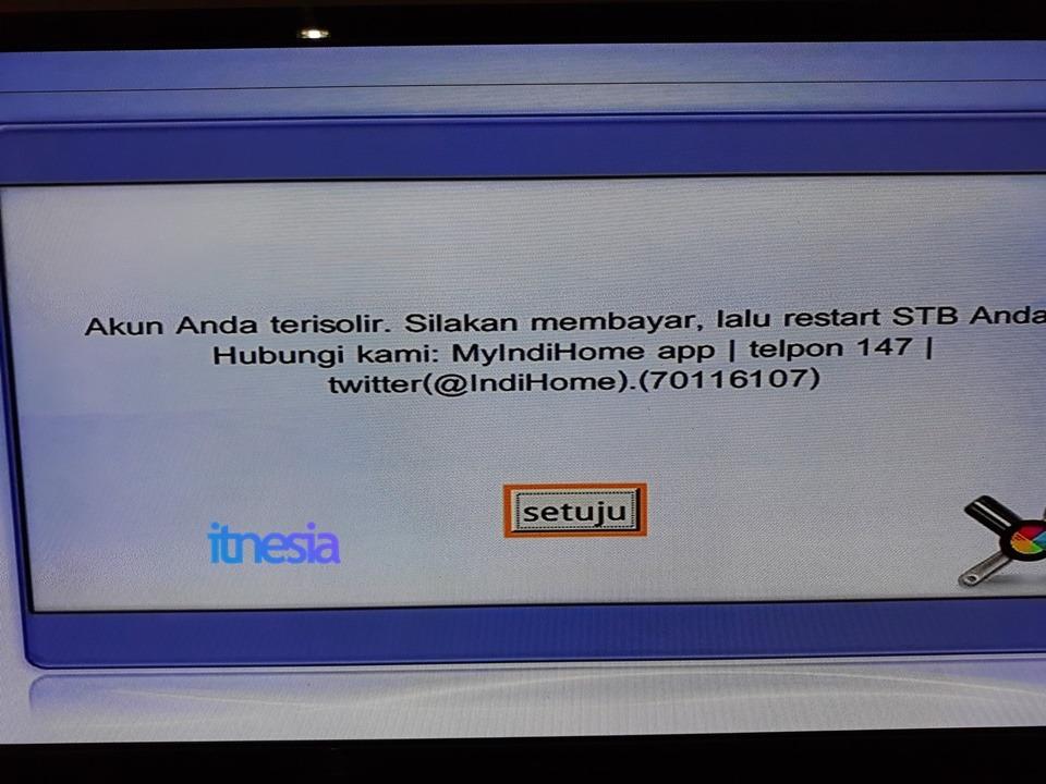 Peringatan Akun Anda Terisolir IndiHome UseeTV