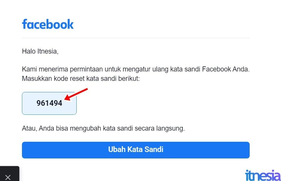 Cara Mengembalikan Akun FB Yang Dibajak - Kode Keamanan Dari Facebook