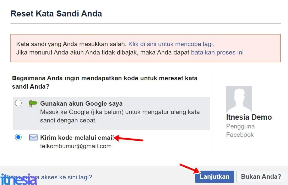Cara Mengembalikan Akun FB Yang Dibajak - Reset Kata Sandi
