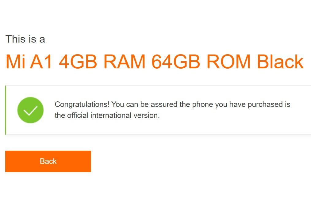 Contoh HP Xiaomi Asli