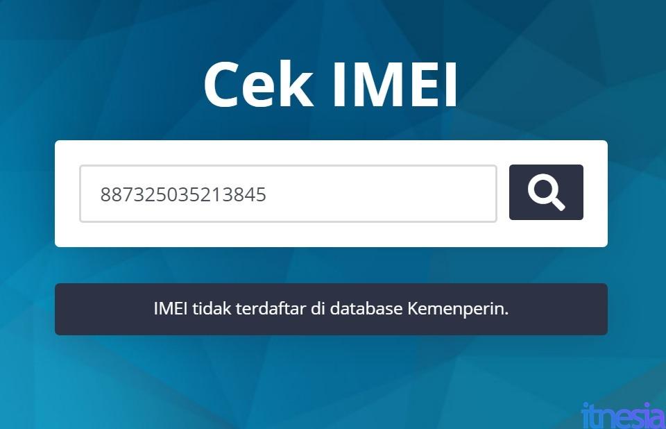 Contoh IMEI Xiaomi Tidak Terdaftar Di Database Kemenperin