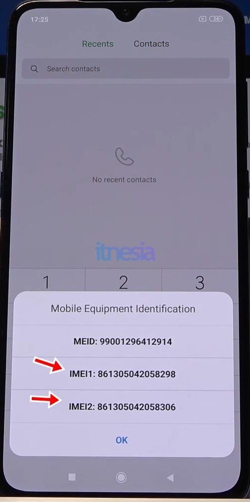 Informasi IMEI Pada Smartphone Xiaomi dengan metode USSD
